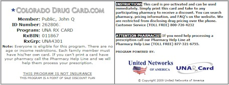 The Colorado Drug Card from ColoradoDrugCard.com