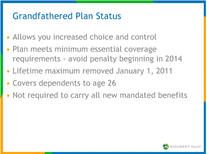 Video on Grandfathered Health Insurance Plans