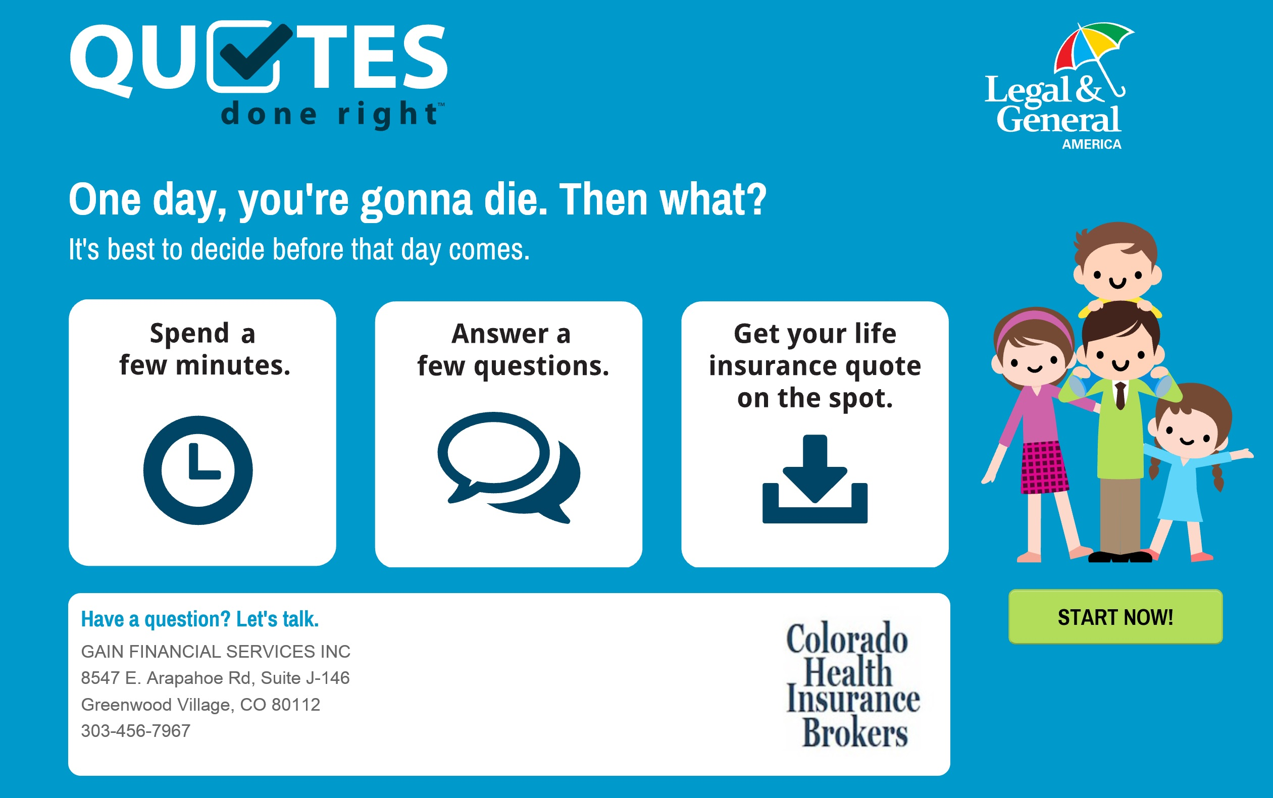 Life Insurance Instant Quote Custom Colorado Health Insurance  Fast And Affordable Life Insurance